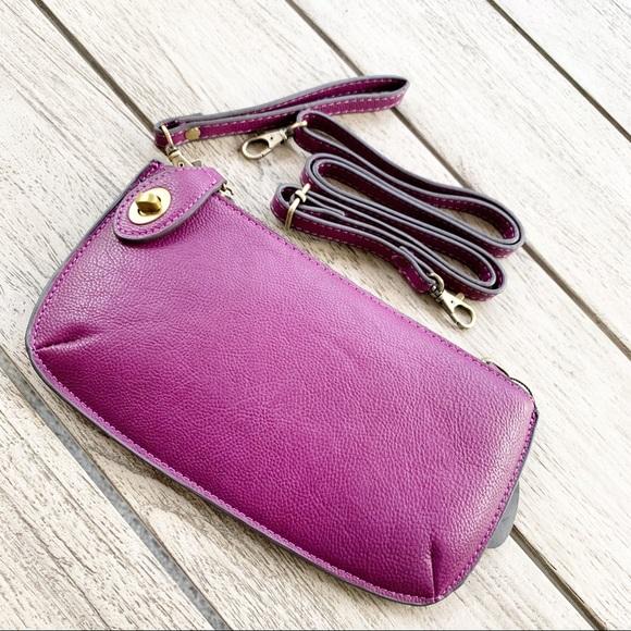 Joy Susan Handbags - JOY SUSAN Mini Crossbody/Clutch Mulberry Vegan Bag